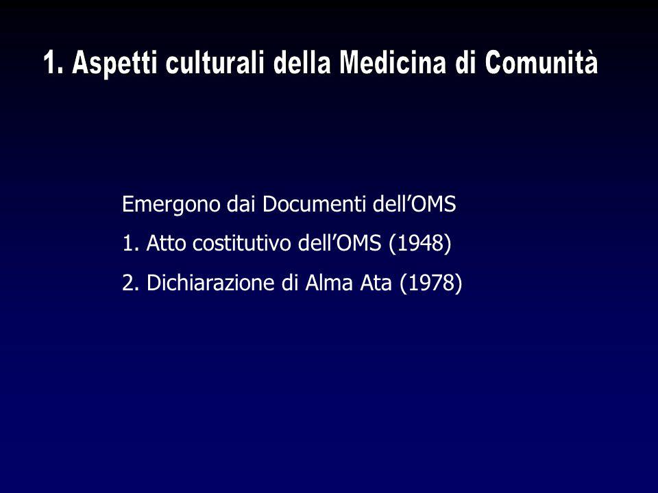 1. Aspetti culturali della Medicina di Comunità