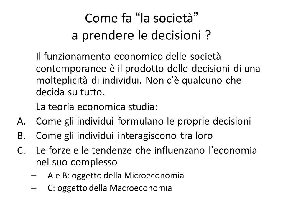 Come fa la società a prendere le decisioni