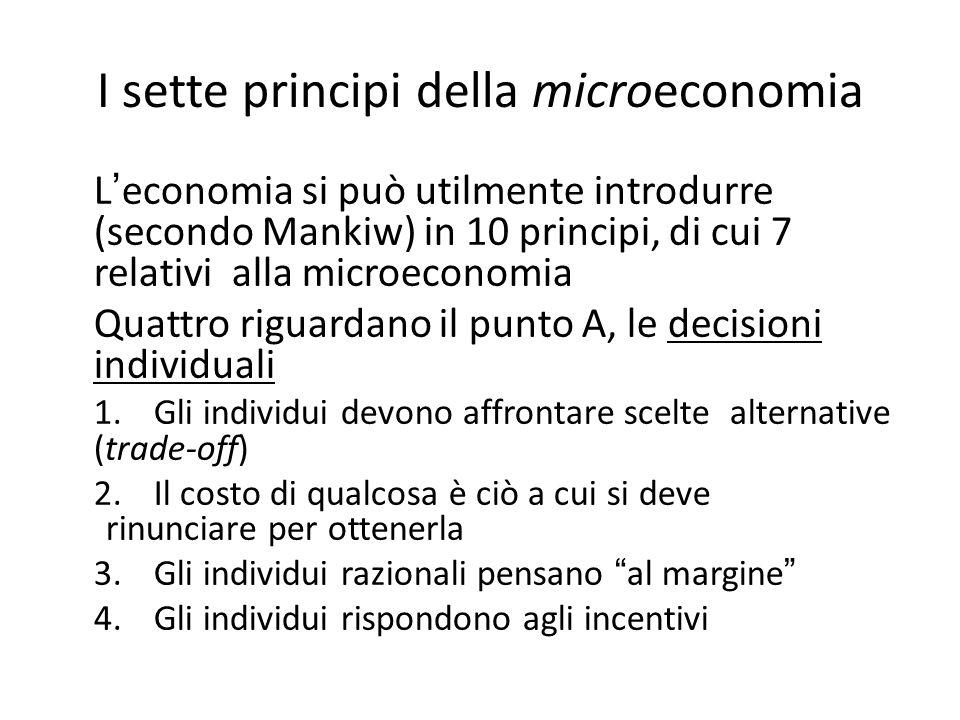 I sette principi della microeconomia