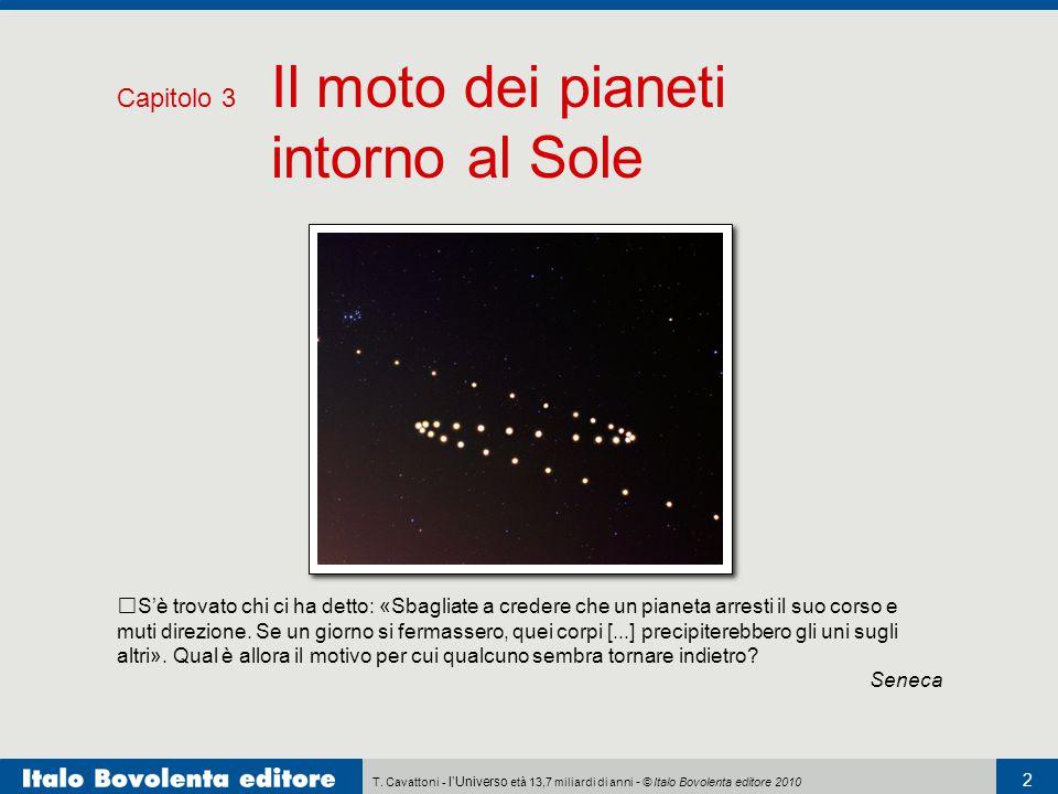 Capitolo 3 Il moto dei pianeti intorno al Sole