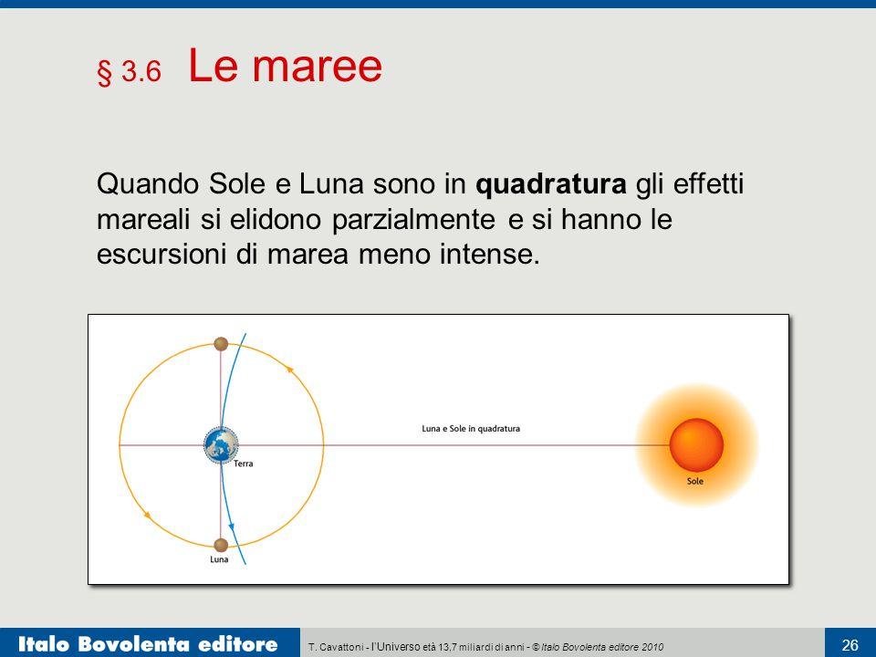 § 3.6 Le maree Quando Sole e Luna sono in quadratura gli effetti mareali si elidono parzialmente e si hanno le escursioni di marea meno intense.