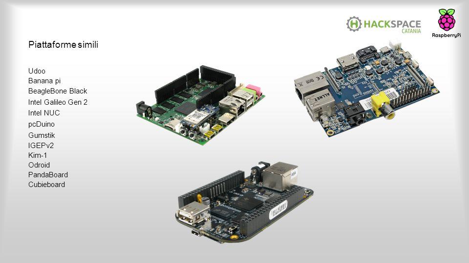 Piattaforme simili Udoo Banana pi BeagleBone Black Intel Galileo Gen 2