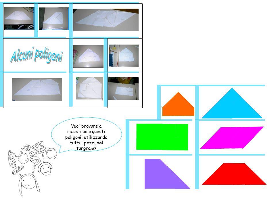 Alcuni poligoni Vuoi provare a ricostruire questi poligoni, utilizzando tutti i pezzi del tangram