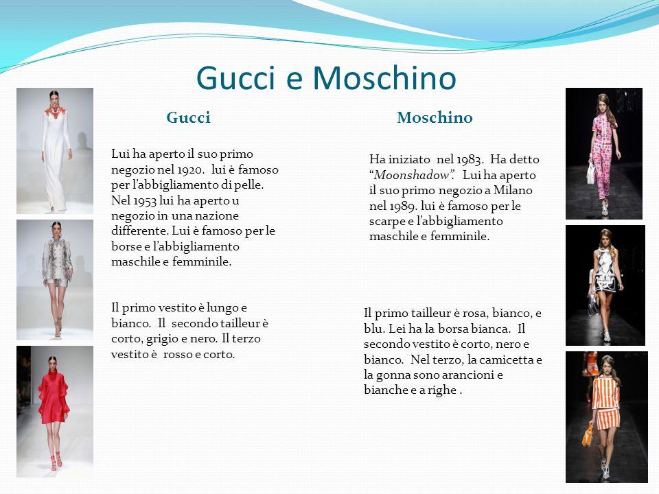 Gucci e Moschino Gucci Moschino