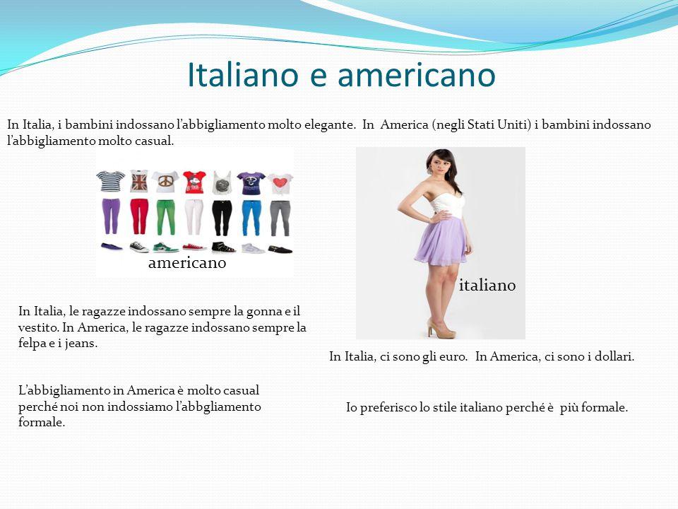 Italiano e americano americano italiano