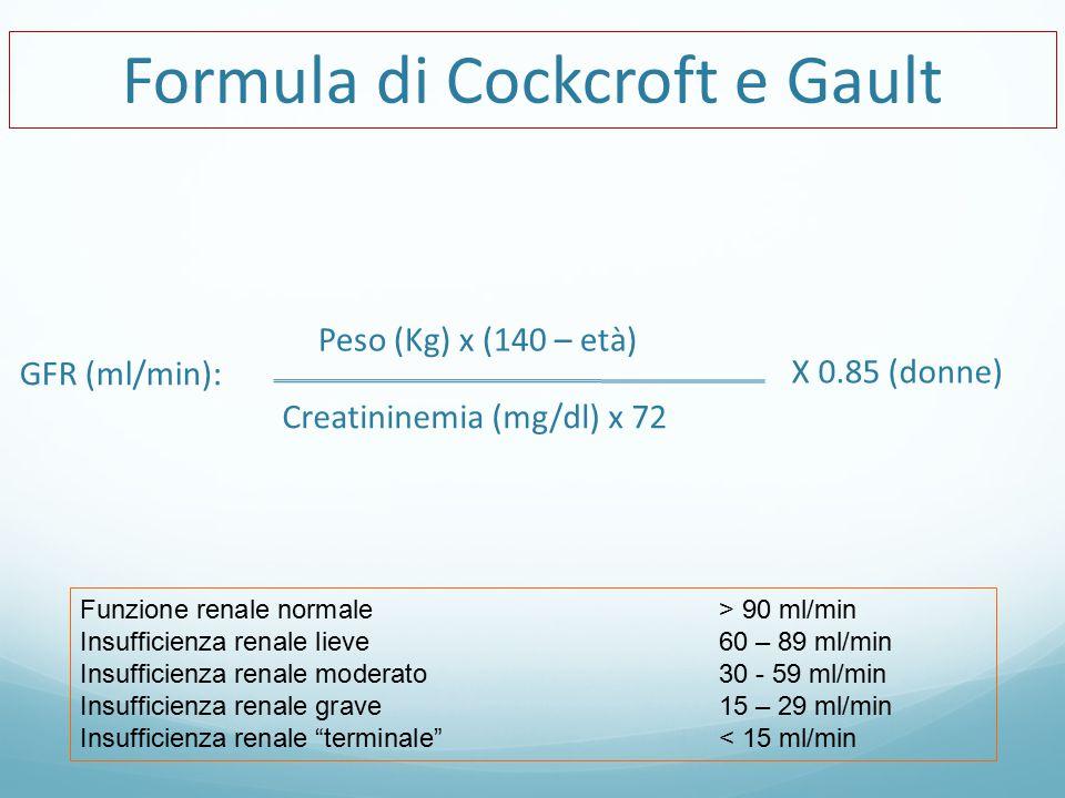 Formula di Cockcroft e Gault