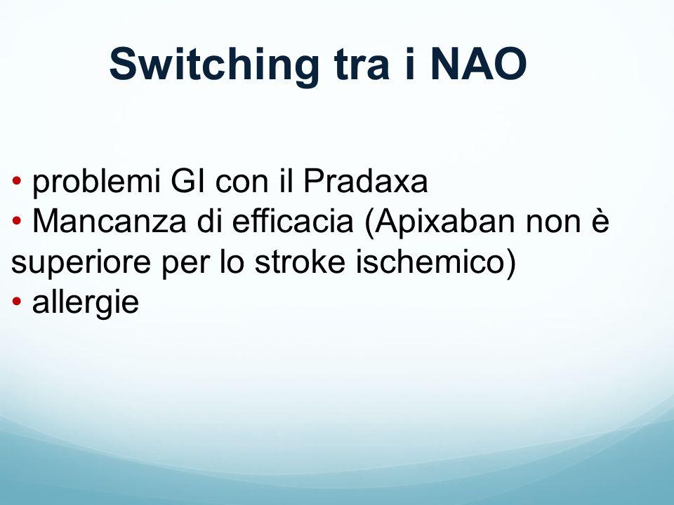 Switching tra i NAO problemi GI con il Pradaxa