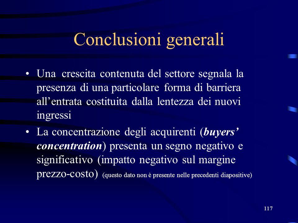 Conclusioni generali