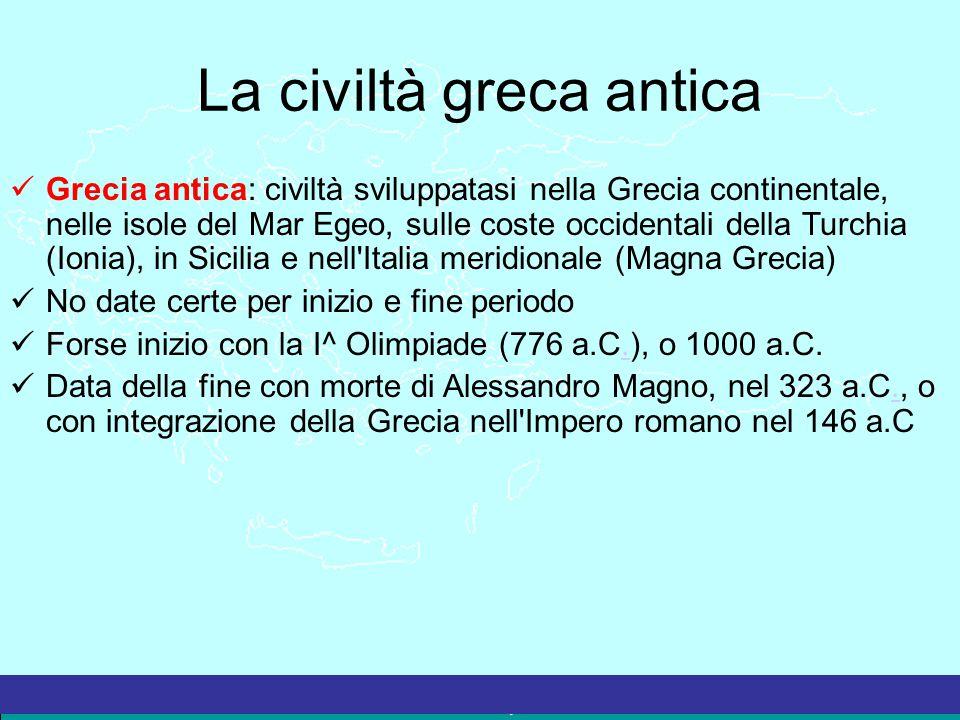 La civiltà greca antica