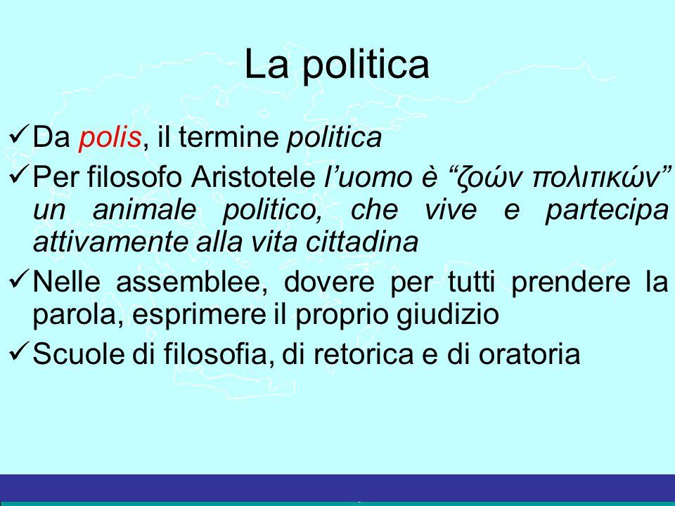 La politica Da polis, il termine politica