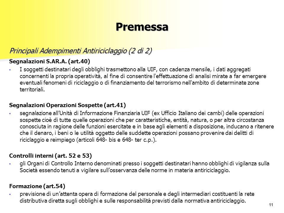 Principali Adempimenti Antiriciclaggio (2 di 2)