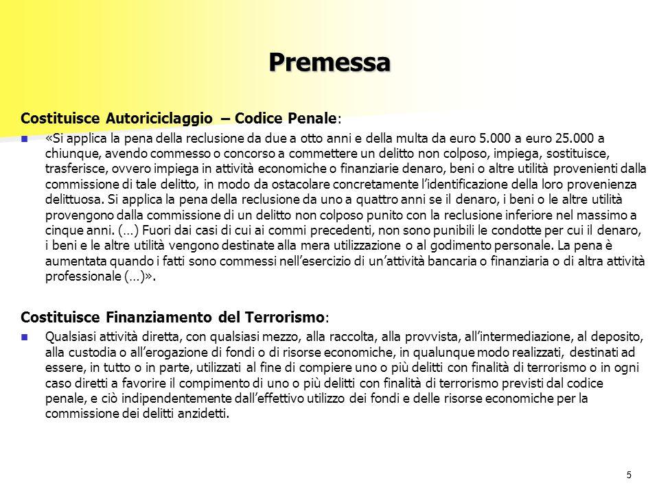Premessa Costituisce Autoriciclaggio – Codice Penale: