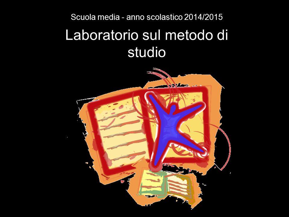 Laboratorio sul metodo di studio