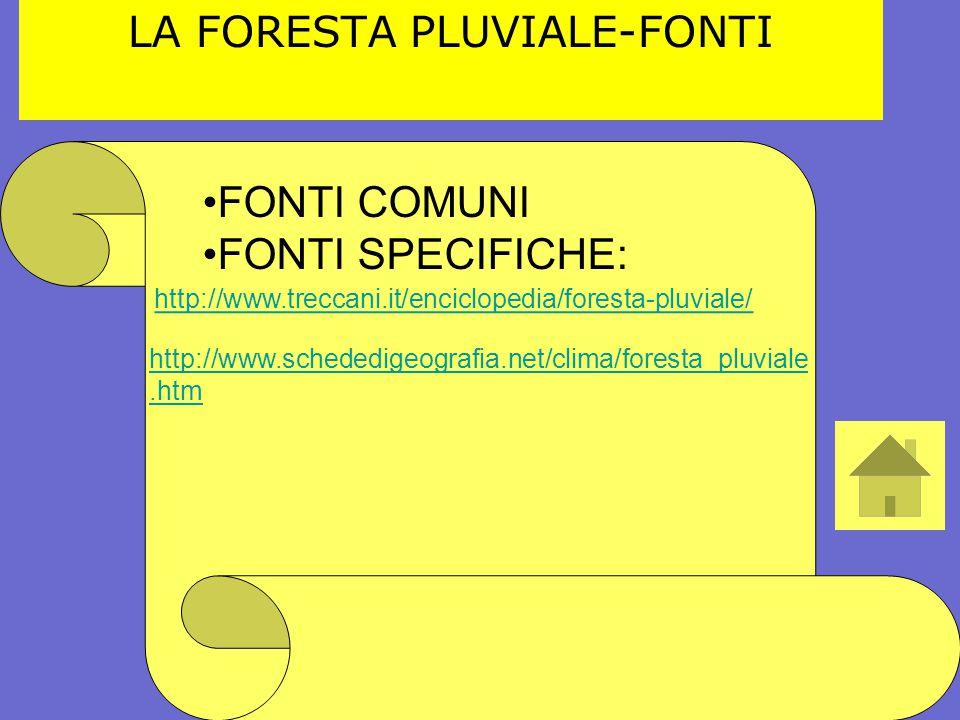 LA FORESTA PLUVIALE-FONTI