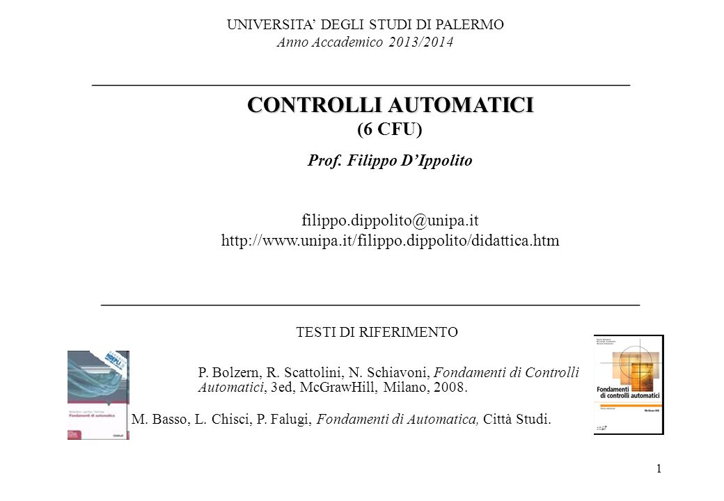 Prof. Filippo D'Ippolito