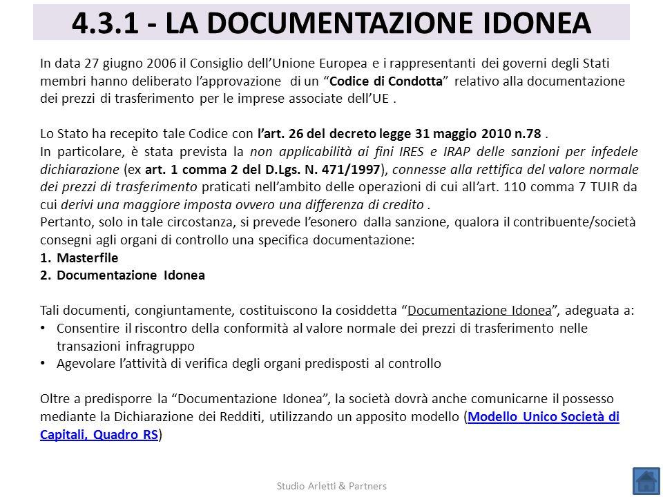 4.3.1 - LA DOCUMENTAZIONE IDONEA
