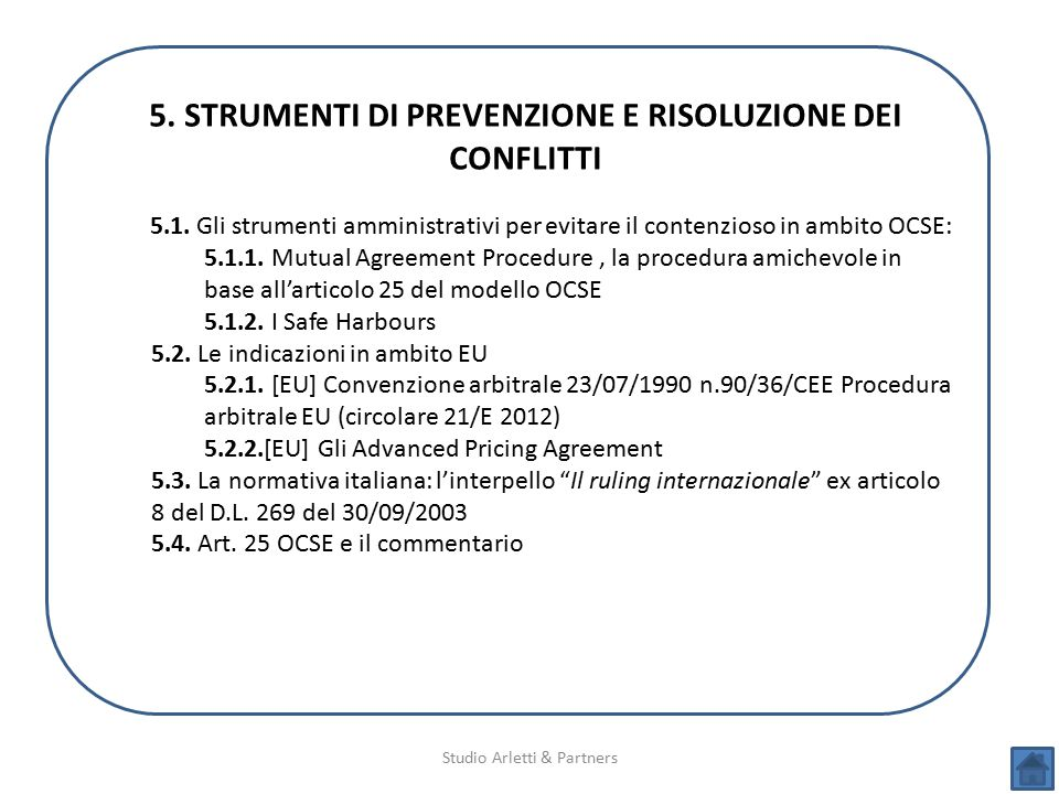 5. STRUMENTI DI PREVENZIONE E RISOLUZIONE DEI CONFLITTI