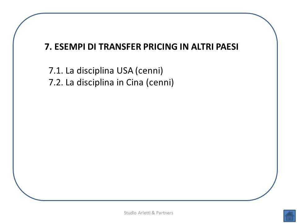 7. ESEMPI DI TRANSFER PRICING IN ALTRI PAESI
