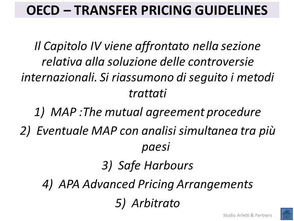 OECD – TRANSFER PRICING GUIDELINES