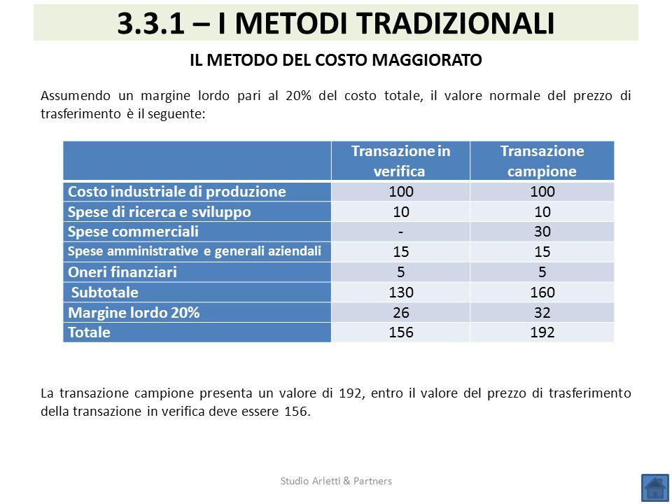 3.3.1 – I METODI TRADIZIONALI