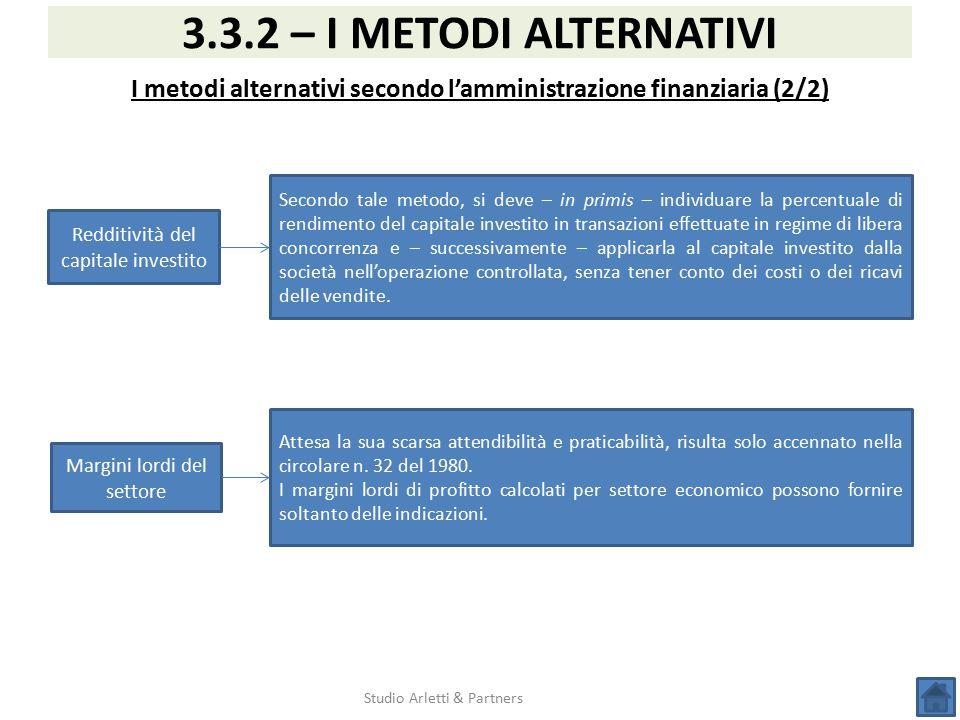 I metodi alternativi secondo l'amministrazione finanziaria (2/2)