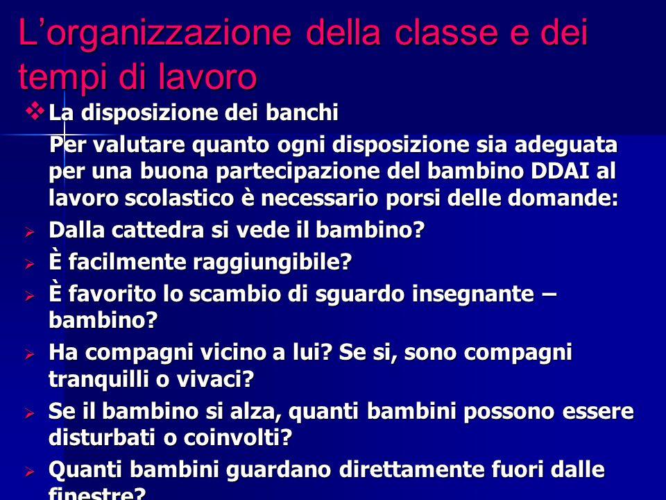 L'organizzazione della classe e dei tempi di lavoro