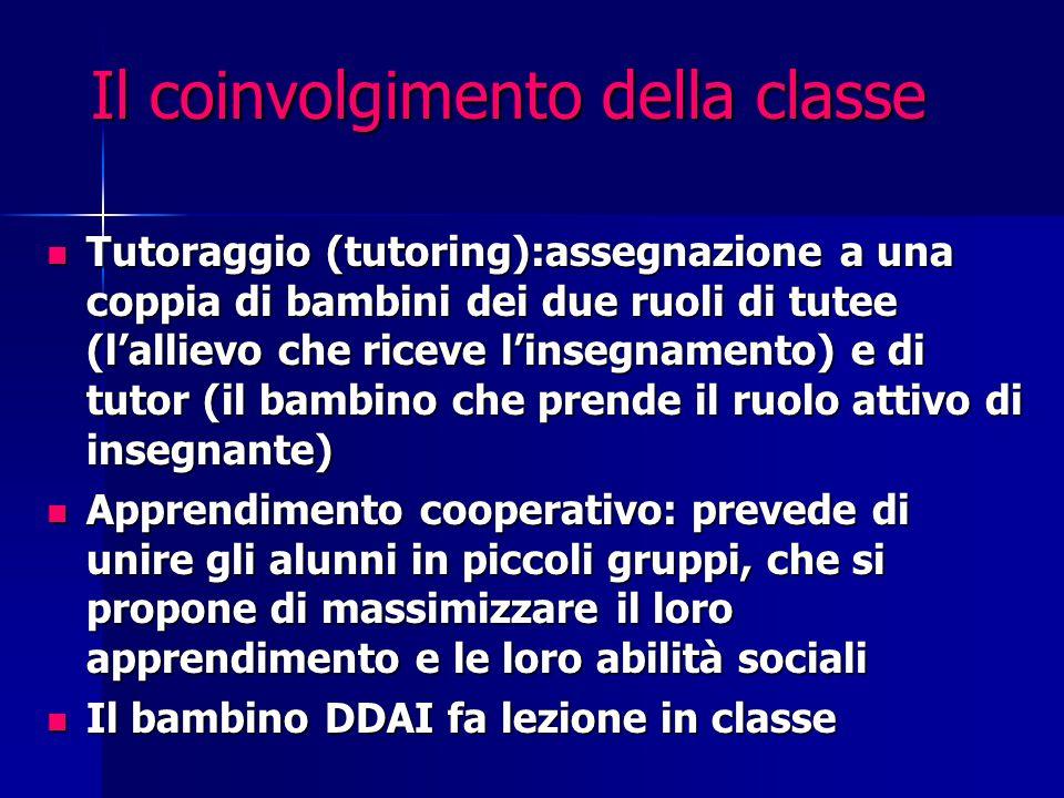 Il coinvolgimento della classe