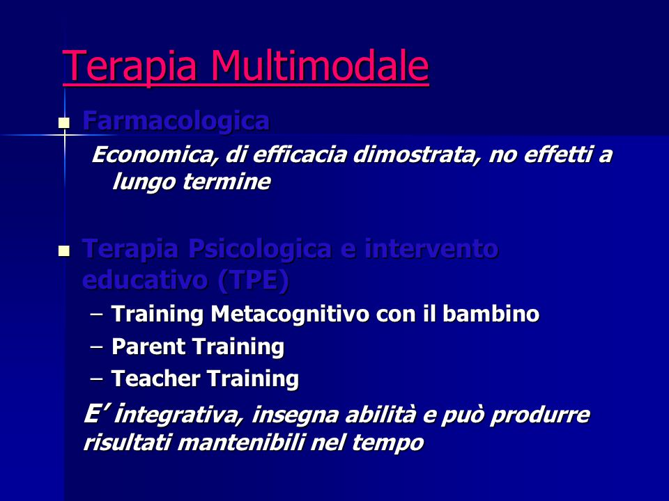 Terapia Multimodale Farmacologica