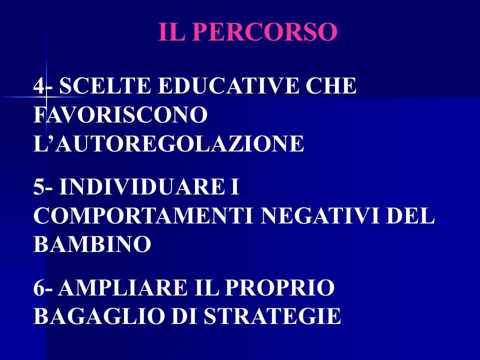 IL PERCORSO 4- SCELTE EDUCATIVE CHE FAVORISCONO L'AUTOREGOLAZIONE