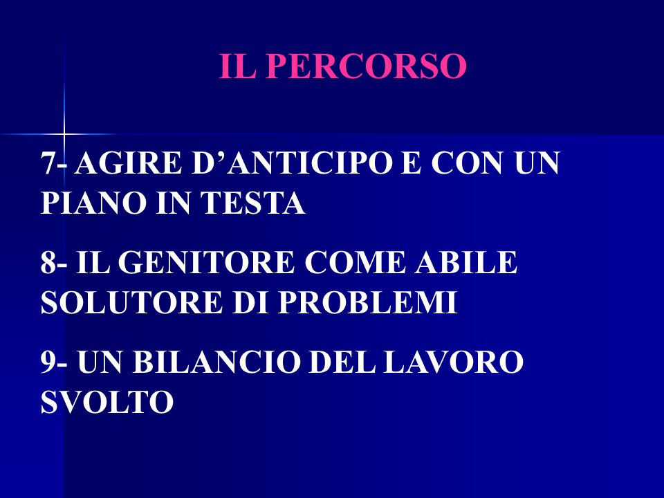 IL PERCORSO 7- AGIRE D'ANTICIPO E CON UN PIANO IN TESTA