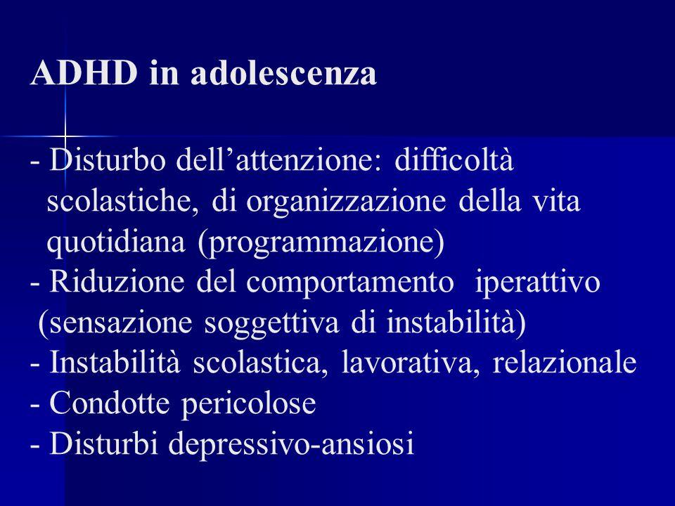 ADHD in adolescenza - Disturbo dell'attenzione: difficoltà
