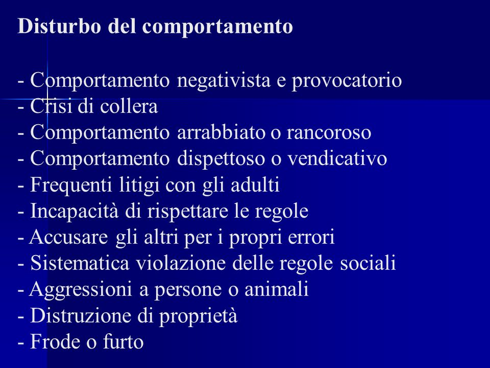 Disturbo del comportamento