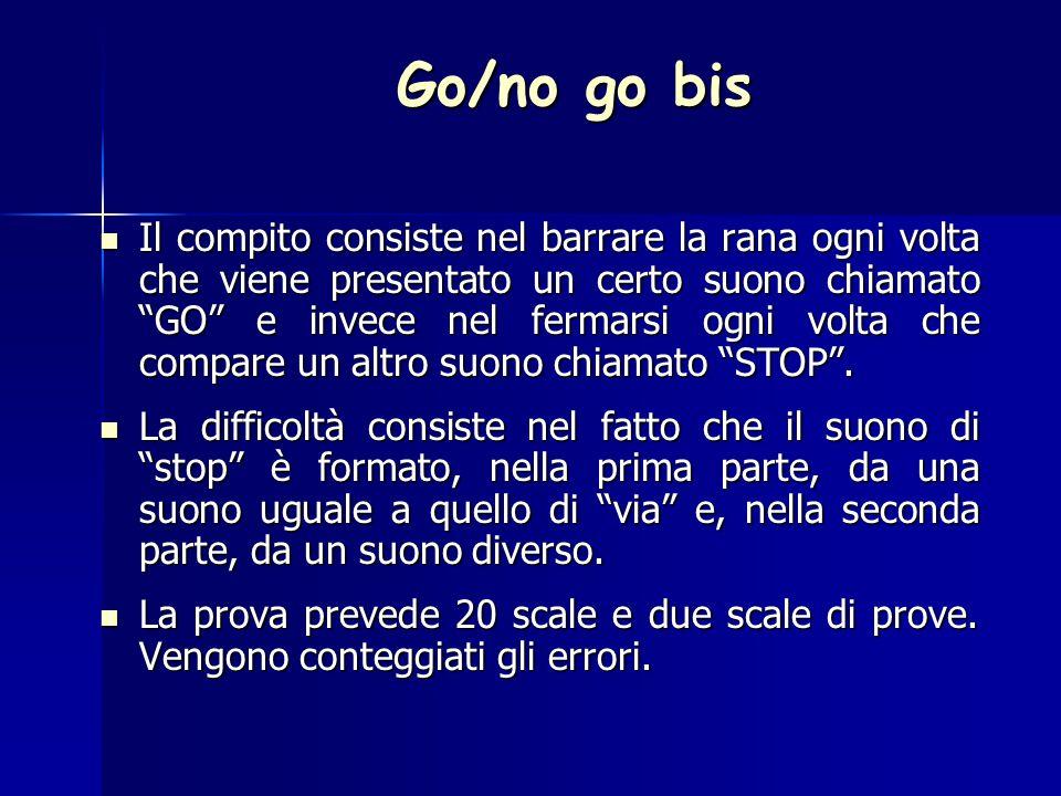 Go/no go bis