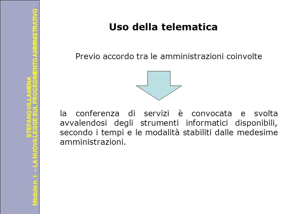 Uso della telematica