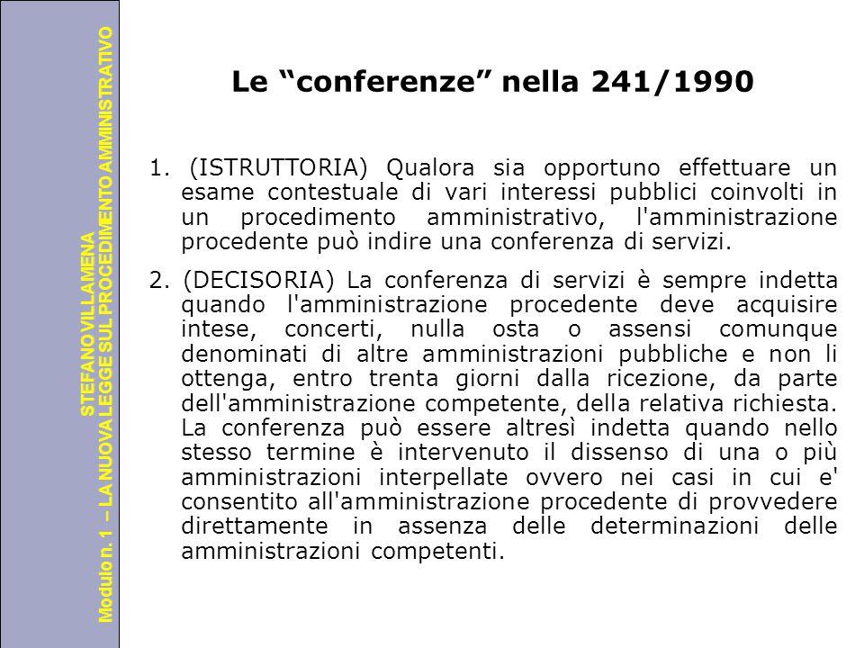 Le conferenze nella 241/1990