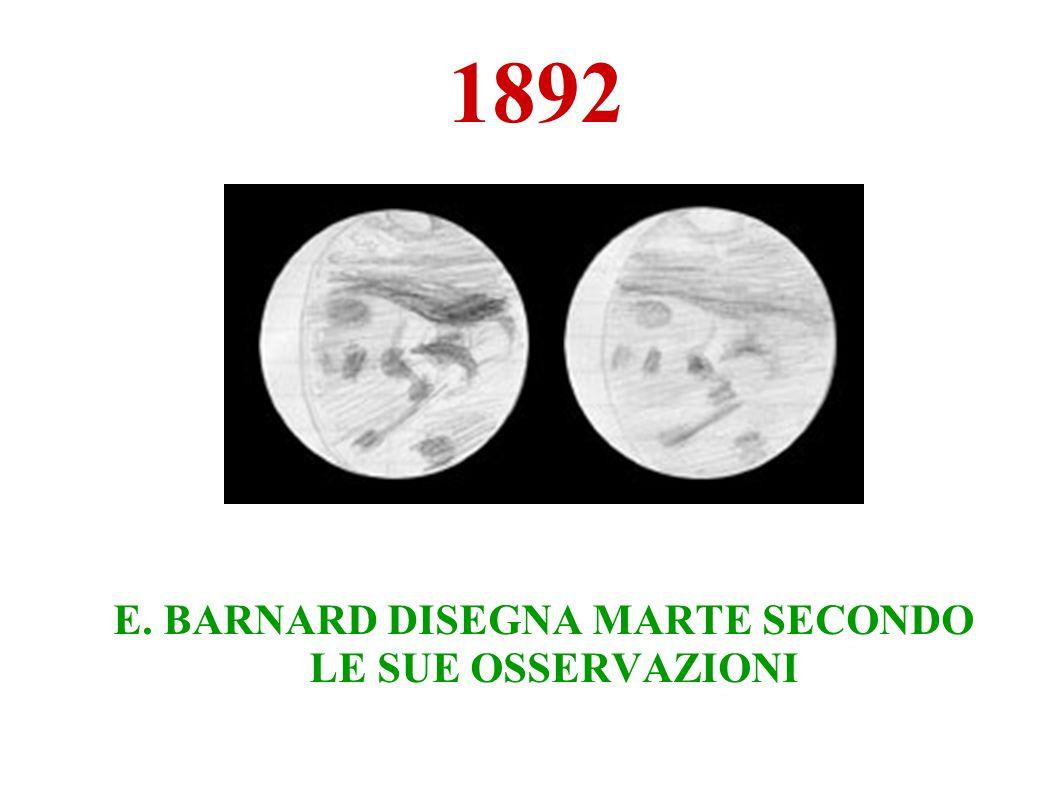 E. BARNARD DISEGNA MARTE SECONDO LE SUE OSSERVAZIONI