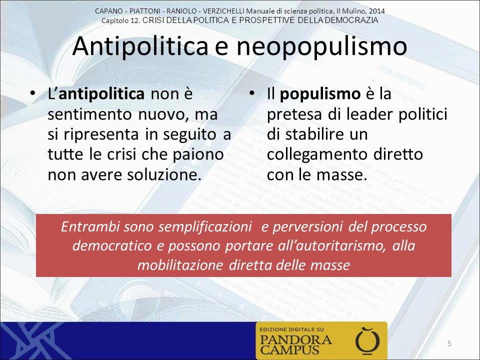 Antipolitica e neopopulismo