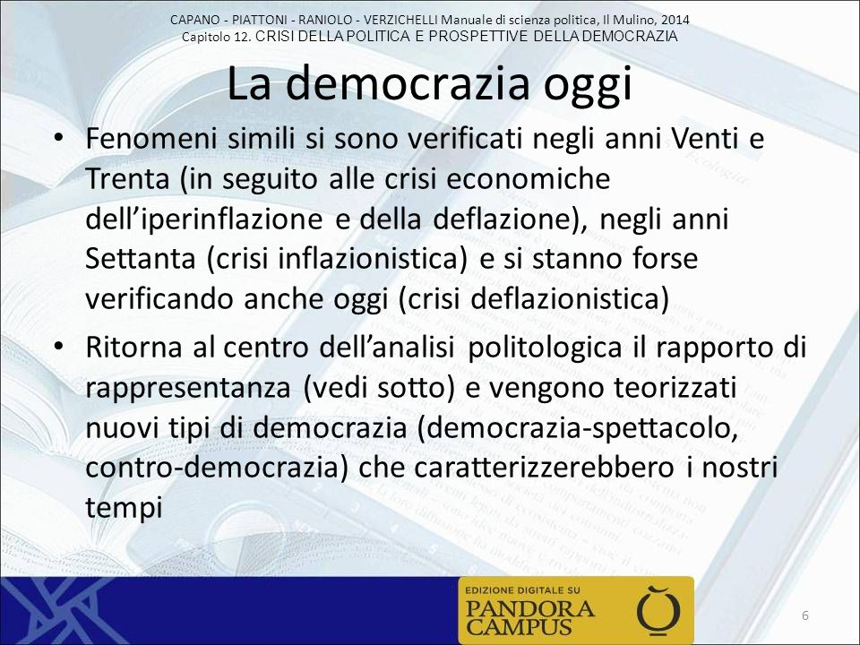 La democrazia oggi