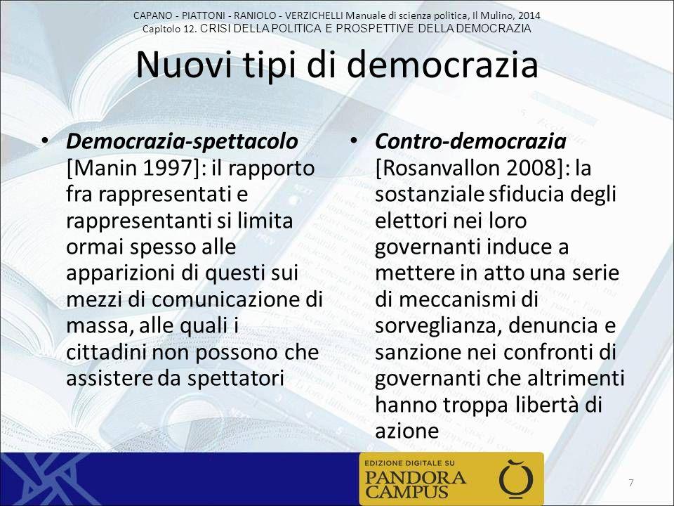 Nuovi tipi di democrazia