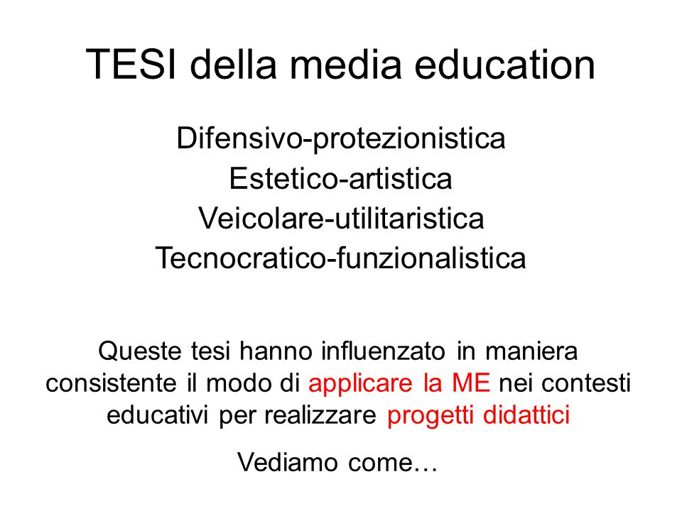 TESI della media education