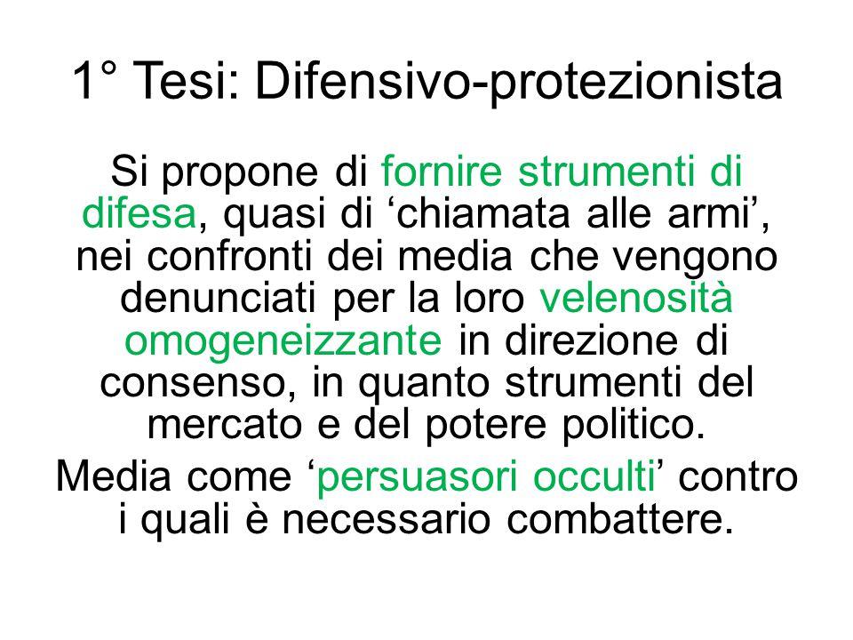 1° Tesi: Difensivo-protezionista