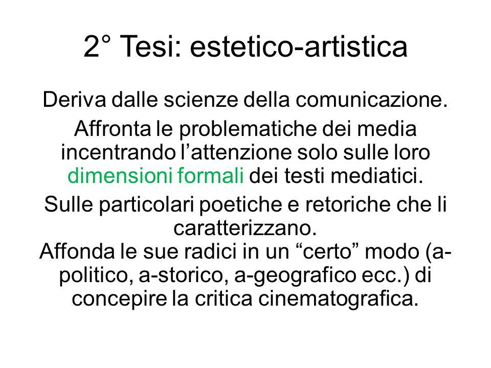 2° Tesi: estetico-artistica