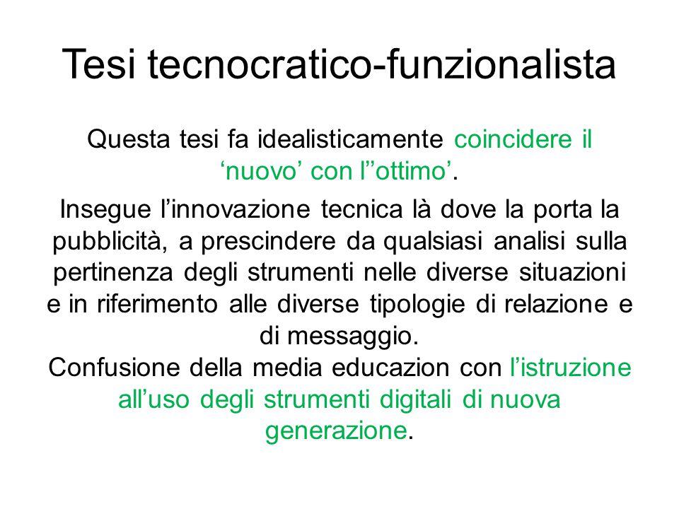 Tesi tecnocratico-funzionalista