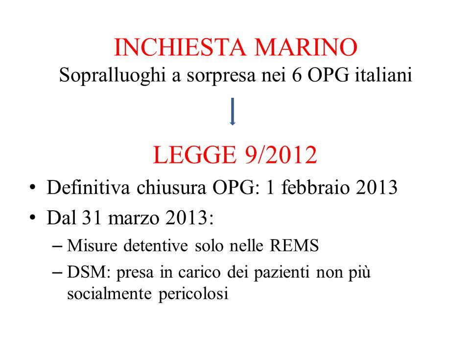 INCHIESTA MARINO Sopralluoghi a sorpresa nei 6 OPG italiani