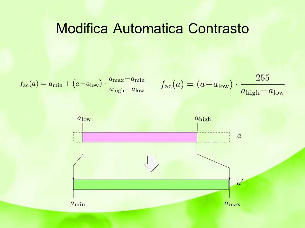 Modifica Automatica Contrasto
