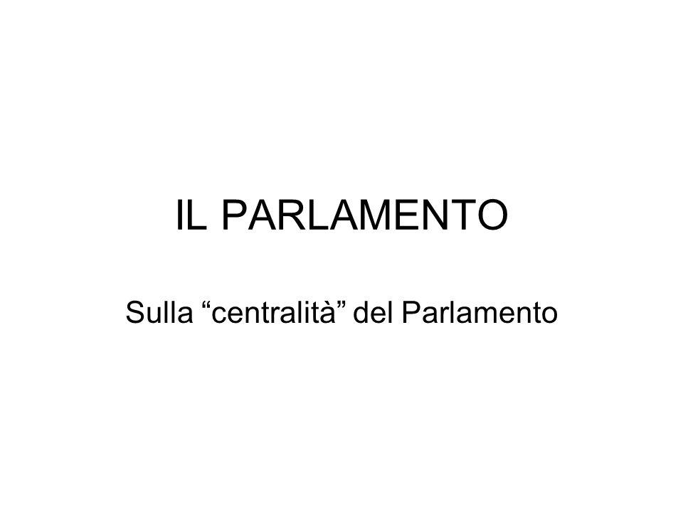 Sulla centralità del Parlamento