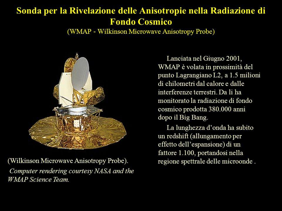 Sonda per la Rivelazione delle Anisotropie nella Radiazione di Fondo Cosmico (WMAP - Wilkinson Microwave Anisotropy Probe)