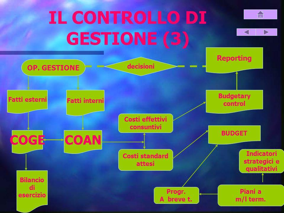 IL CONTROLLO DI GESTIONE (3)