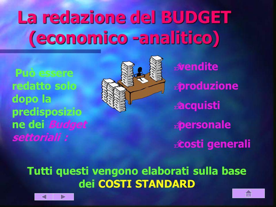 La redazione del BUDGET (economico -analitico)