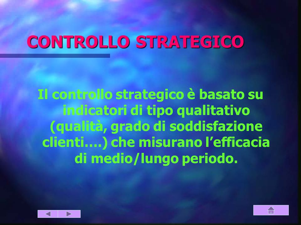CONTROLLO STRATEGICO